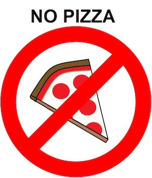 Image result for no pizza clipart