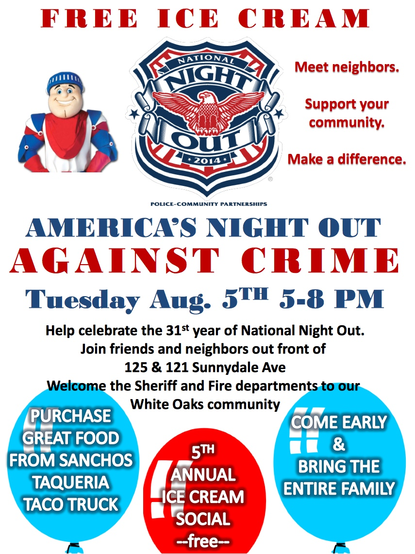 National Night Out The White Oaks Blog